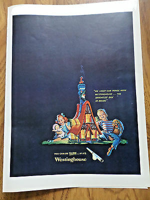 1951 Westinghouse Lights Lamps Ad