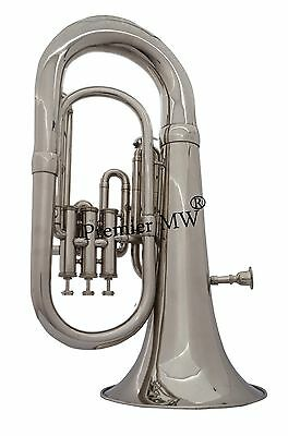 BRAND NEW Premier MW  3 VALVE NEW CHROME PLATED EUPHONIUM WITH CARRY BAG+MP,