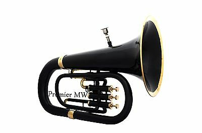 PREMIUM QUALITY  JUST 2 PC  SALE Premier MW  BLACK + GOLDEN  Bb EUPHONIUM+ HC