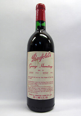 Penfolds Grange Shiraz 1962 Red Wine Clinic