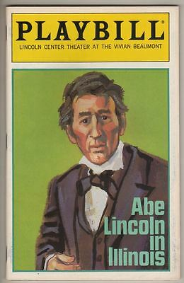 "Sam Waterston  ""Abe Lincoln In Illinois""   Playbill  1993  Broadway"