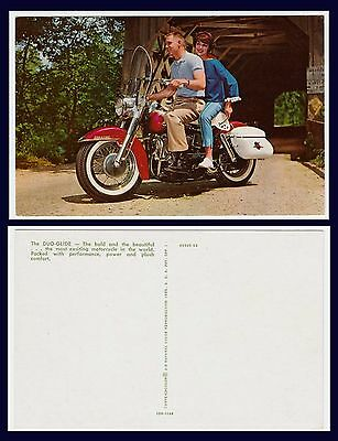 Harley Davidson  Duo-Glide Advertising Postcard Circa 1962