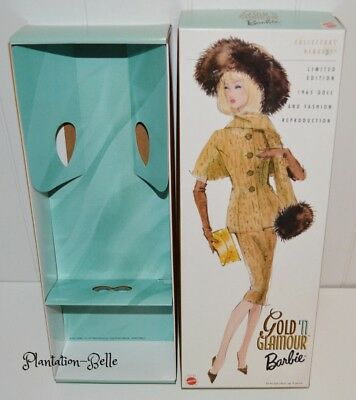 Gold 'n Glamour ~ Mattel Barbie Reproduction *box Only* For Display, Storage