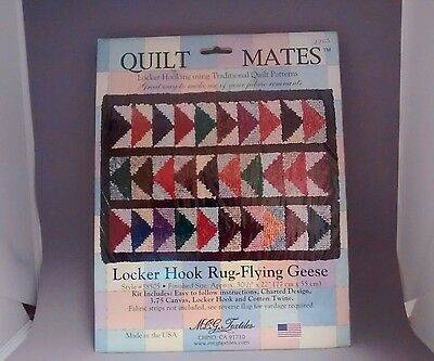 Quilt Mates Locker Hook Rug-Flying Geese Kit! Made in the USA