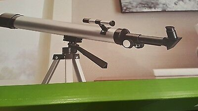 Telescope Lightweight Full Adjustable Tripod 60x/120x Target Silver Colored