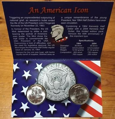 1964 - 2004 Usa Kennedy Half Dollars..limited Edition Pack.
