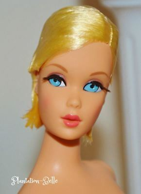 Hair Fair Reproduction Nude TNT Twist N Turn Mod Barbie Doll ~ Rooted Lashes