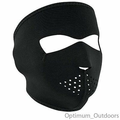 Black Neoprene Full Face Mask Skiing Snowboarding Cycling Motor Bike Motorcycle