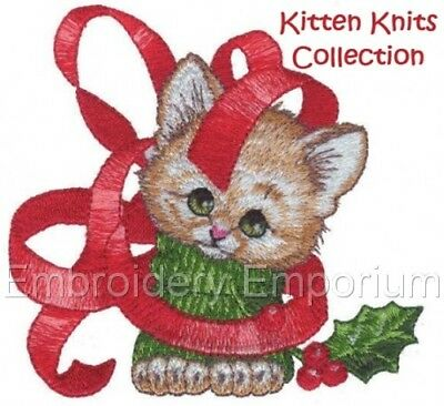 Kitten Knits Collection - Machine Embroidery Designs On Cd