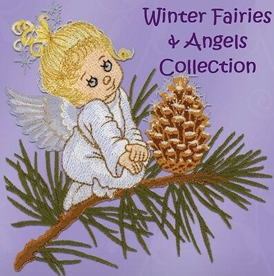 Winter Fairies & Angels - Machine Embroidery Designs On Cd