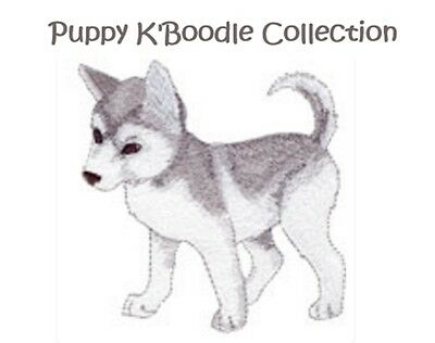 Puppy K'boodle Collection - Machine Embroidery Designs On Cd
