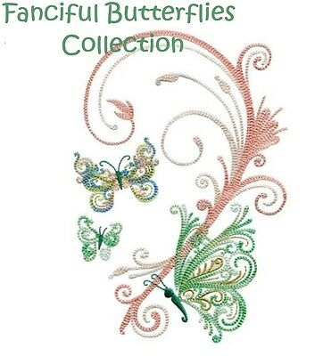 Fanciful Butterflies Collection - Machine Embroidery Designs On Cd