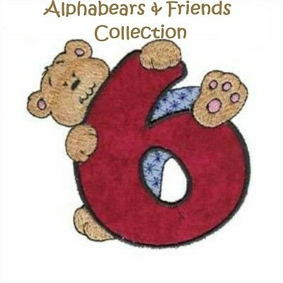 Alphabears & Friends Collection - Machine Embroidery Designs On Cd