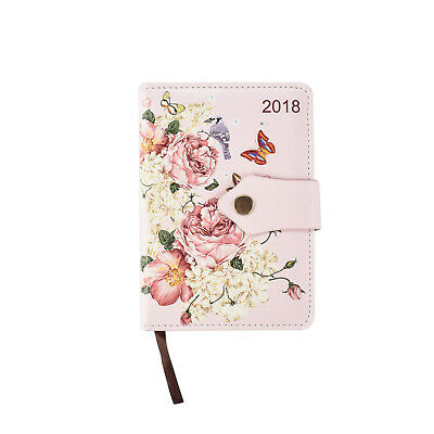 A6 2018 Executive Buttefly design Day A Page Index Diary - Soft Padded Cover x 1