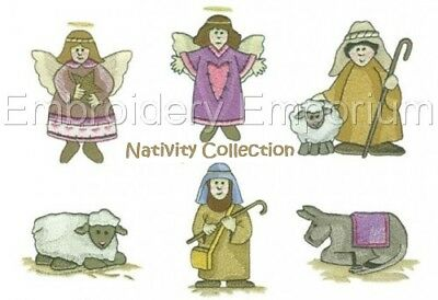 Nativity Collection - Machine Embroidery Designs On Cd
