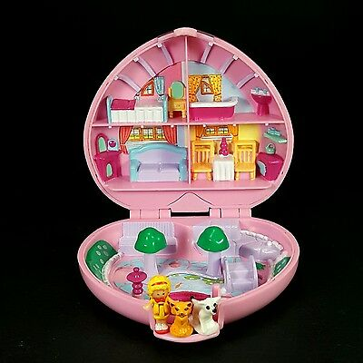 *Complete* POLLY POCKET 1989 Country Cottage VARIATION Vintage Bluebird Heart