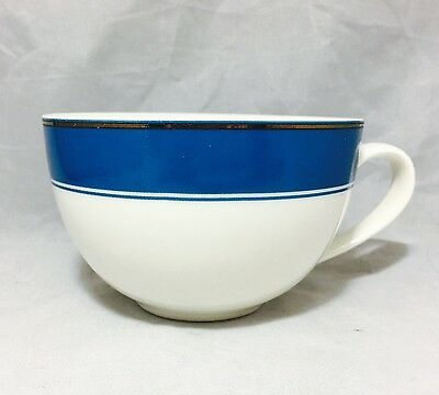 Starbucks 2006 holiday cappuccino porcelain cup Blue White Gold Holiday 12 Oz.