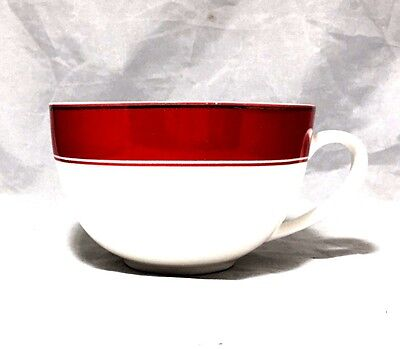 Starbucks 2006 holiday cappuccino porcelain cup Red White Gold Holiday 12 Oz.