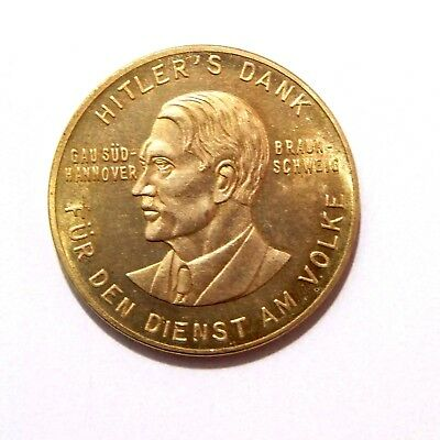Adolf Hitler / No Date / Medal - Coin Of Iii Reich / Germany / Ww - 2