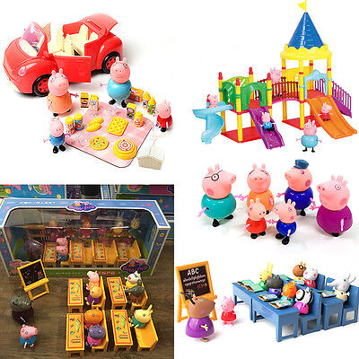 Peppa Pig Family&Friends Figure Car Slide with Figures Toys Kids Gift NEW UK