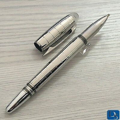 Luxury Pen Silver Checker Full Metal Rollerball Pen