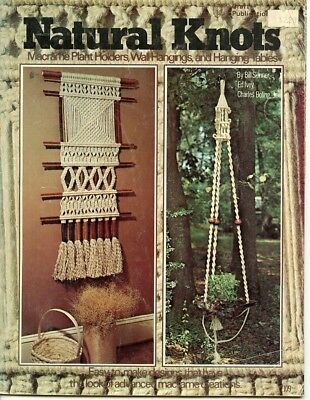 Natural Knots - Macrame plant holders, wall hangings & hanging tables - 1976