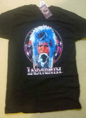 Labyrinth (David Bowie) Movie T-Shirt  Size Small Unisex