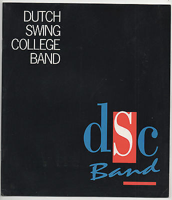 DUTCH SWING COLLEGE BAND - SIGNED  90's PROGRAMME & POSTCARD.