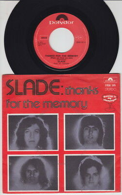 SLADE * Thanks For The Memory * 1975 Belgian only PS * GLAM *
