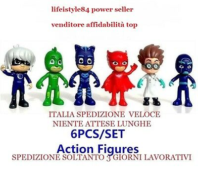 Pj Masks Super Pigiamini Set Nº 6 Personaggi Pjmasks Per Torte In Italia Entraa