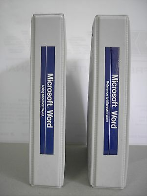 VINTAGE : MICROSOFT WORD PROCESSING PROGRAMME MANUALS Ver. 3--2 manuals