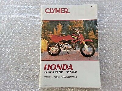 Clymer Honda XR50R XR70R 1997 to 1993 Service Workshop Manual M319