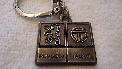 ( Rare )Vintage Dealership Peaugeot Key Ring Chain 26 Rue Cambaceres Paris