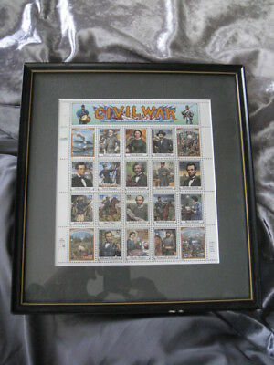 Classic Collections Civil War U.s. Stamps - In Frame Lincoln Douglass Stonewall