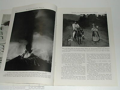 1944 magazine articles on MEXICO, Paricutin Volcano, Mexico City, color photos