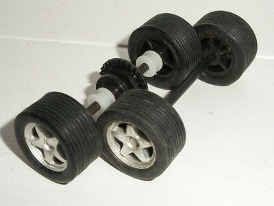 Scalextric - Front Axle & Rear Axle - Silver 5-Spoke - NEW