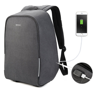 Kopack 15.6 inch Anti Theft Laptop Backpack with USB Charging Port Waterproof Ch