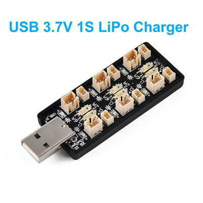 1S LiPo Battery USB Charger 3.7V/4.20V 6 Channel 1S LiPo Charger Tiny Whoop Blad
