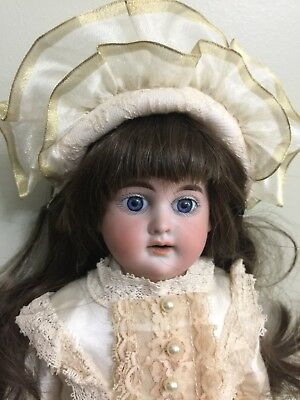 """Antique Doll Cuno Otto Dressel Bisque Doll On A Kid Body 17"""""""