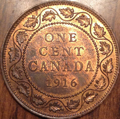 1916 Canada Large Cent Red/brown Uncirculated