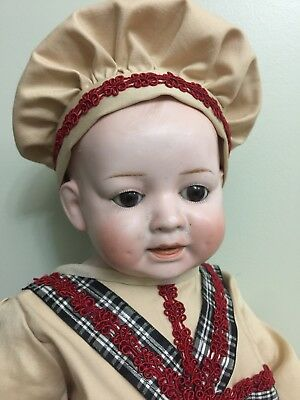 """Antique Bisque Doll Nippon Y304 On a Computer Body 16"""""""