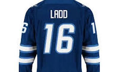 Slighty USED LADD #16 Youth Size L/XL Winnipeg Jets Home Blue Premier Jersey