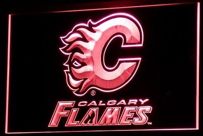 CALGARY FLAMES  Hockey NR Light Bar Sign BRAND NEW