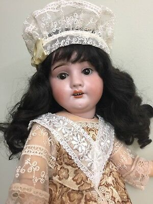 """Antique Bisque Doll By RA Rechnagel On A composition Body 18"""""""