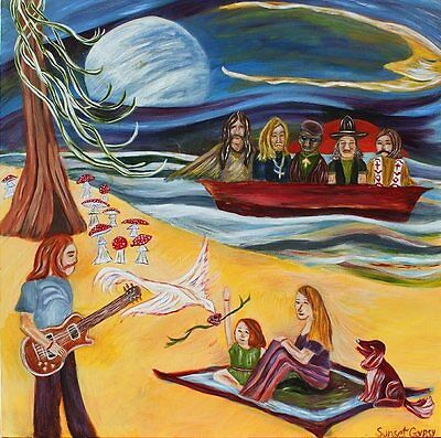 Allman Brothers Band- Art Painting - Duane Allman, Gregg, Red Dog, Galadrielle