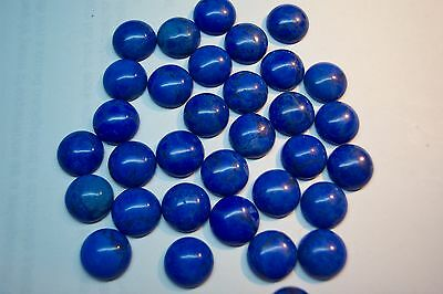 lab created man made material  lapis  11mm round cab  lot of 100 carat 400