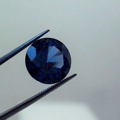 lab created  stunning blue sapphire  6.0 mm round  clean gemstones 1.00 carat