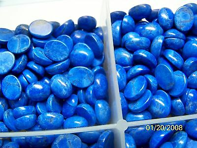 lab created man made material lapis  oval 10x8 cab  lot 50 stones 150  carat