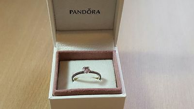 Pandora Pink Delicate heart  Ring. Sterling Silver S925 ALE