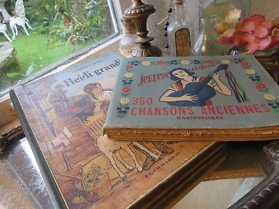 Two Pretty Vintage French  Books ~  For Boudoir / Period Display !
